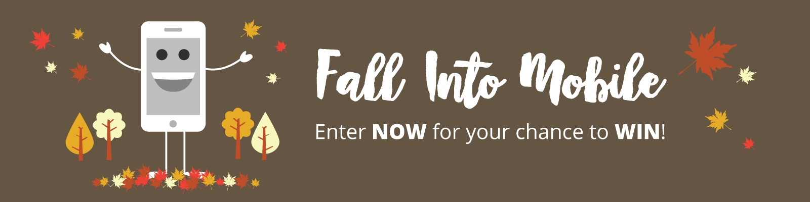 Fall Into Mobile Contest Banner